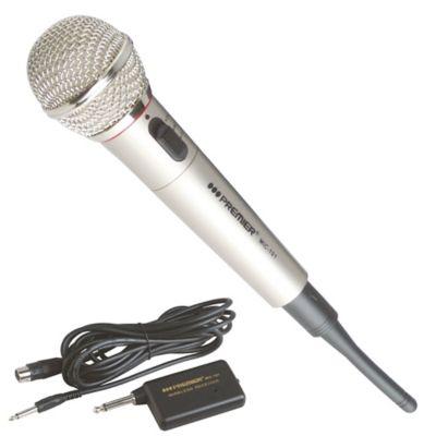 Micrófono 2 en 1 Alámbrico e Inalámbrico Negro Mic131