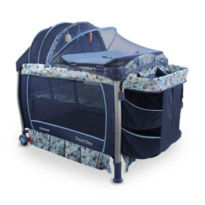 Cuna Corral Travel Elite 125x138x82.5cm Azul