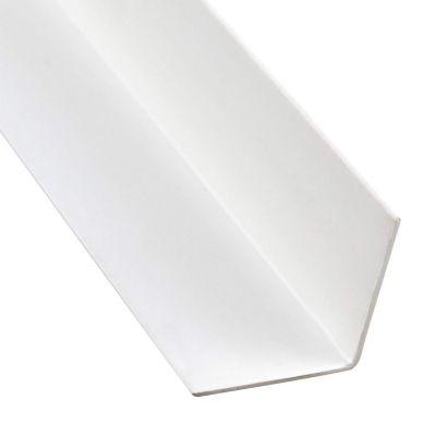 Ángulo PVC Blanco Satín 20x20mm 2.6m