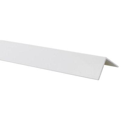 Ángulo PVC Blanco Brillo 30x30mm 1m