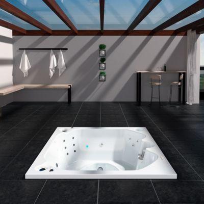 Santorini 180 X 180 cm - Hidromasaje - Blanco - Mant 5.5