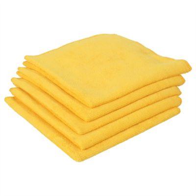 Paño Microfibra Color Amarillo x5 Unidades