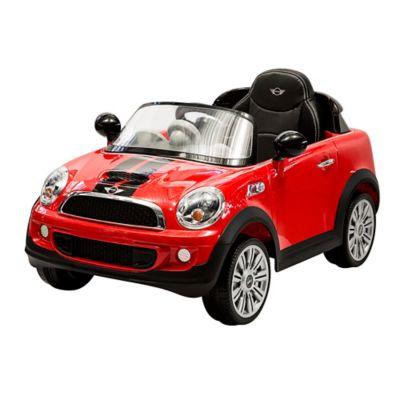 Mini Cooper Roja Con Control Remoto