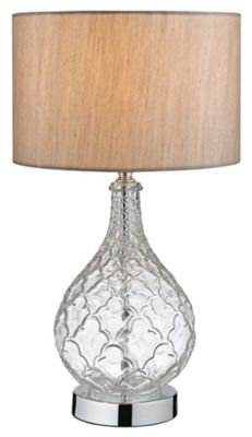 Lámpara Mesa Obidos 1 Luz E27 Cromo