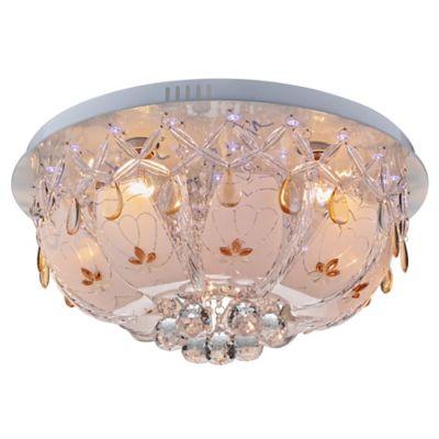 Lámpara Techo Vilareal 5l E27 RGB Tipo Cristal