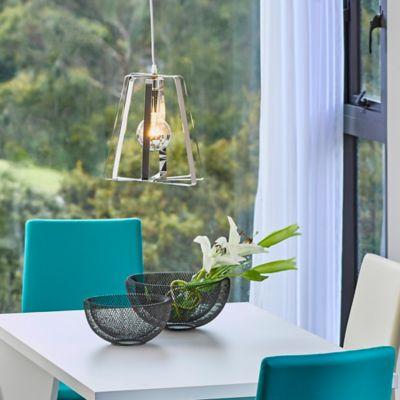 Lámpara Colgante   Cacem 1 Luz E27 Cromo