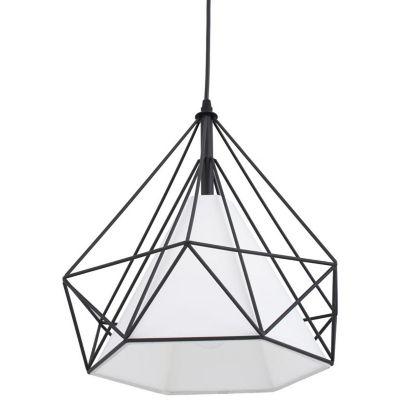 Lámpara Colgante Olhao 1 Luz E27 Negro