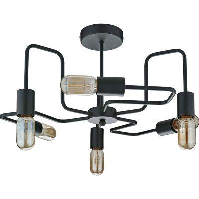Lámpara Techo Thebes 6 Luces E27 Negro