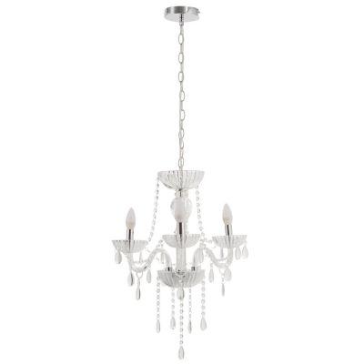 Lámpara Colgante Candelabro Auriga 3 Luces E14 Cromo