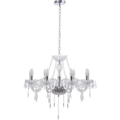 Lámpara Colgante Candelabro Auriga 8 Luces E14 Cromo