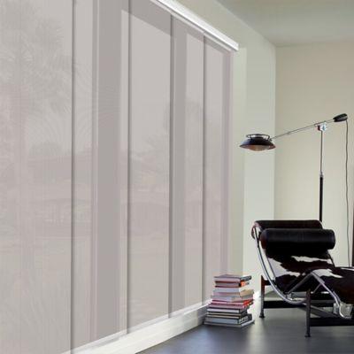 Cortina Panel Oriental Solar Screen 5 Gris A La Medida Ancho Entre 370.5-390  Cm Alto Entre  400.5-420 Cm