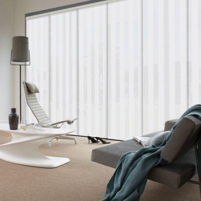 Cortina Panel Oriental Riviera Blanco A La Medida Ancho Entre 160.5-180  Cm Alto Entre  260.5-280 Cm