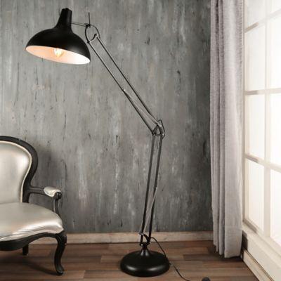 Lámpara Pie Extremos 1 Luz E27 Negro