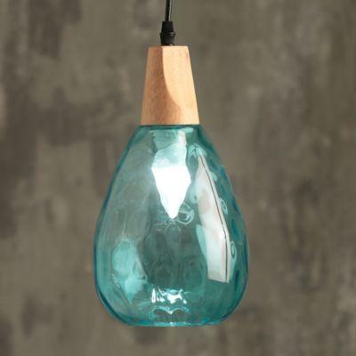 Lámpara Colgante Cale 1 Luz E14 Turquesa