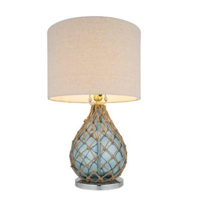 Lámpara Mesa Udine 1 Luz E27 Azul