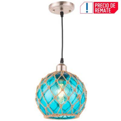 Lámpara Colgante Udine 1 Luz E27 Azul