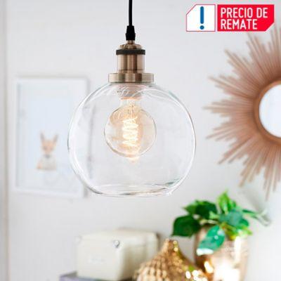 Lámpara Colgante Asti 1 Luz E27 Bronce