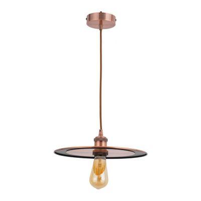 Lámpara Colgante Slim 1 Luz E27 Cobre