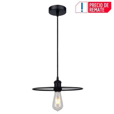 Lámpara Colgante Slim 1 Luz E27 Negro