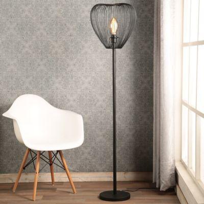 Lámpara Pie Leiden 1 Luz E27 Negro