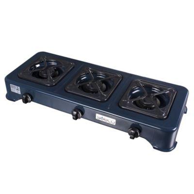 Estufa Sobremesa de 3 Puestos Encendido Automático Gas Propano Moteado