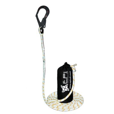 Línea de Vida Vertical Cuerda poliéster de 1.3cm con Nylon de 2½Pulgadas y contrapeso Longitud 30Metros