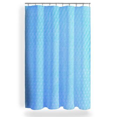 Cortina Baño Poliéster 200x200 cm Azul