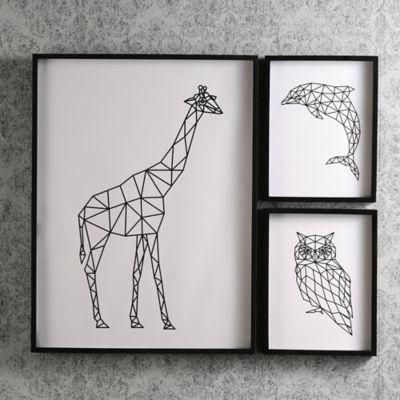 Set x3 Cuadros Animales