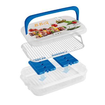 Container con Rejilla y Refrigerante para BBQ de 7L