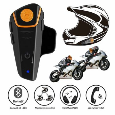 Intercomunicador para Moto Bt-S2 Bluetooth 1000Mts Waterproof