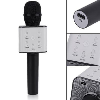 Micrófono Recargable Karaoke Bluetooth Q7 Negro