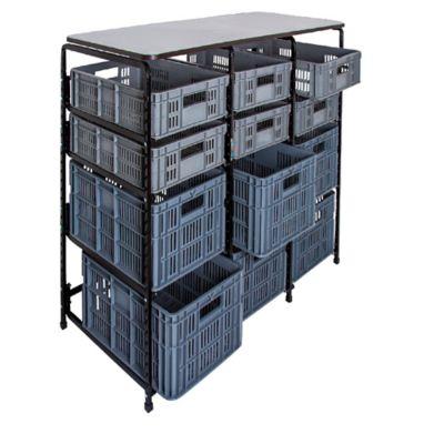 Mesa de Trabajo 12 Canastillas Perforadas 129x61x97cm
