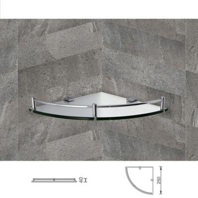 Rejilla Vidrio Trois 28cm X 5.5cm X 28cm Cromo,lavamanos naranja,