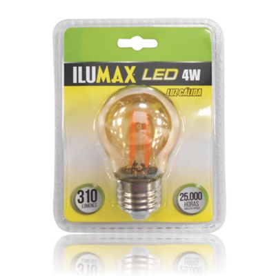 Led Miniglobo Filamento Golden 4W Lc E27 25.000 Hrs