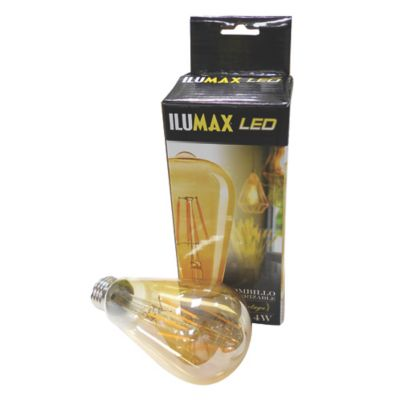 Bulbo Led Pera Fil Dim Golden 4W Lc E27 25.000 Hrs