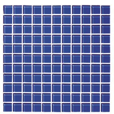 Mosaico Cristal Azul Cobalto 30x30 centímetros