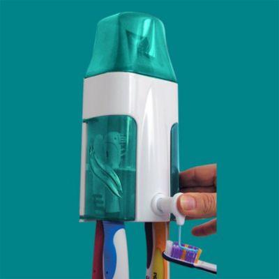 Dispensador de Crema Dental y 4 Cepillos Válvula