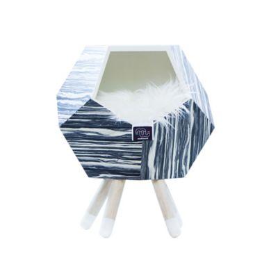 Casa Madera para Gato con Patas + Cojín Modo 47X56Cm Nápoles
