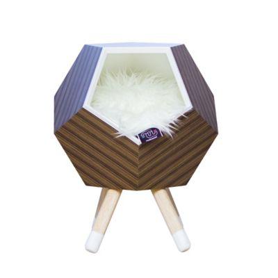 Casa Madera para Gato con Patas + Cojín Modo 47X56Cm Teka Multicolor