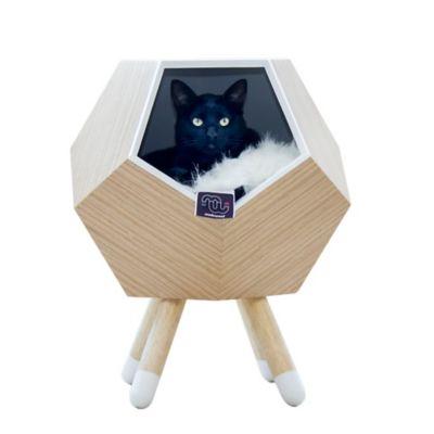 Casa Madera para Gato con Patas + Cojín Modo 47X56Cm Perillo