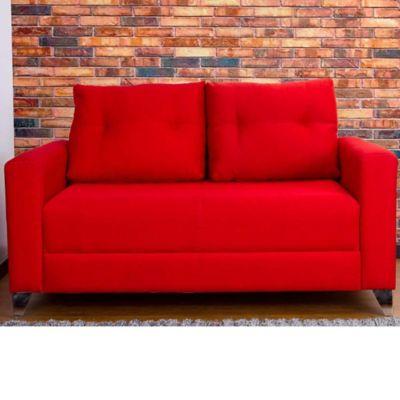 Sofá Madison 2 Puestos Tela Rojo