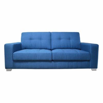 Sofá Miranda 2 Puestos Tela Azul