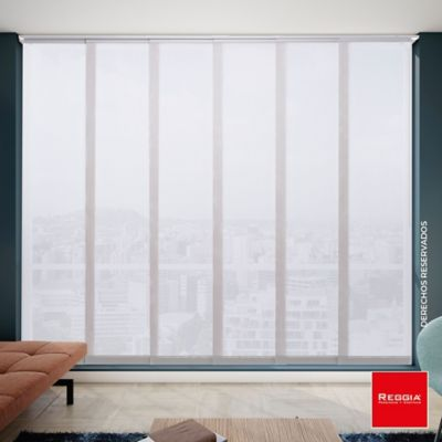 Cortina Panel Japones Solar Screen Ancho 240x220 cm Gris