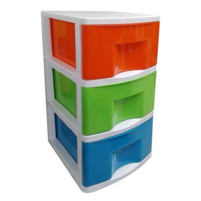 Cajonera x3 Blanco-Naranja-Verde-Azul