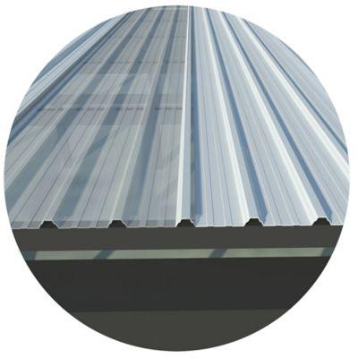 Teja Termoacustica Ecoroof UPVC 2.5mm Blanco 1.07 x 5.90 Mts