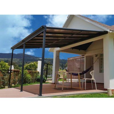 Pergola Canopy Exterior Policarbonato Gris 4.34 x 3.03 x 2.06 Mts