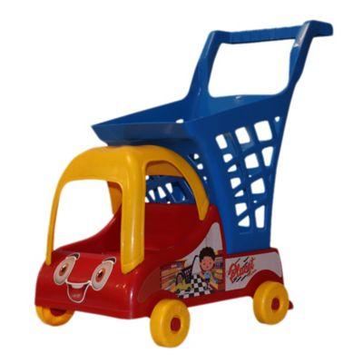 Carro de Mercado Plástico para Niños Rojo