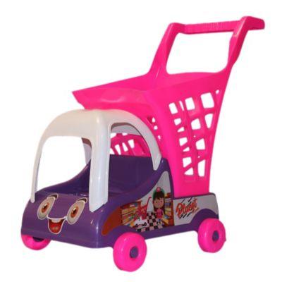 Carro de Mercado Plástico para Niños Morado