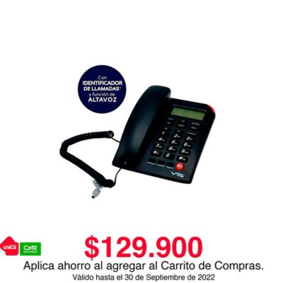 Teléfono Alámbrico Escritorio Id Y Altavoz Pantalla