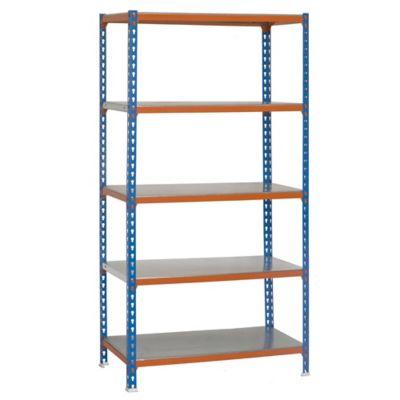 Kit Estantería SimonClick Plus 5/300 Azul/Naranja/Galvanizado